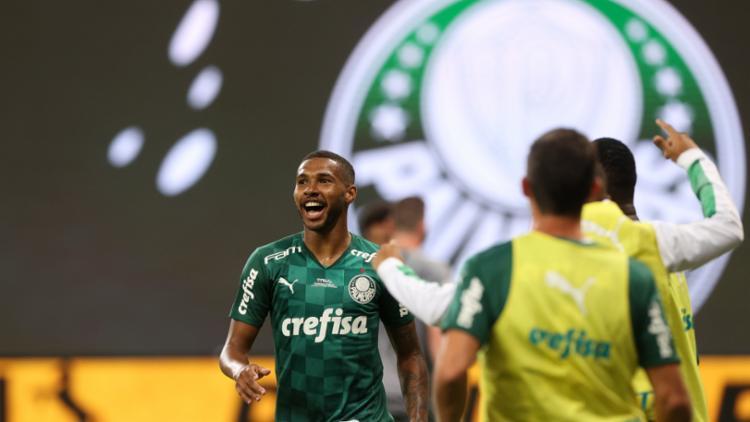 Wesley marcou o primeiro gol da vitória do Grêmio sobre o Palmeiras - Foto: Divulgação