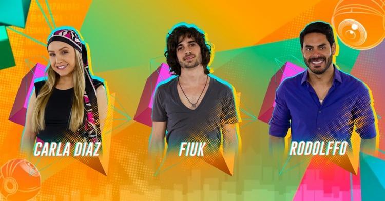 O trio disputa a preferência do público até esta terça-feira, 23, quando ocorre a eliminação | Foto: Divulgação | TV Globo - Foto: Divulgação | TV Globo