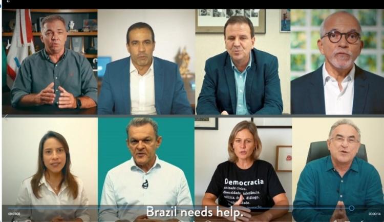 Prefeitos gravaram vídeo com legendas em inglês para pedir auxílio / Foto: Reprodução - Foto: Reprodução