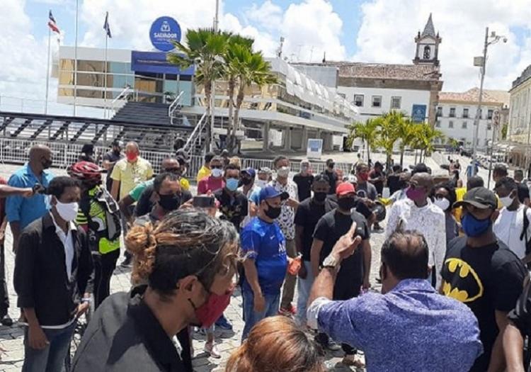 Profissionais da categoria reivindicavam apoio ao executivo municipal para os trabalhadores parados durante a pandemia - Foto: Divulgação: Arquivo Pessoal