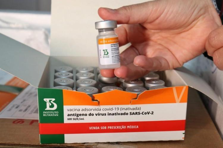Butantan deve receber um lote de 3 mil litros de insumos para produzir 5 milhões de doses   Foto: Rafael Menezes   Sesab - Foto: SESAB/Rafael Menezes