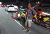 Acidente entre carro e moto deixa dois feridos na Av. Luis Eduardo Magalhães | Foto: Divulgação | Transalvador