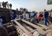 Acidente de trem deixa cerca de 100 feridos no norte do Egito | Foto: AFP