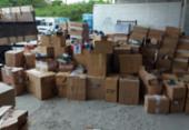 Caminhão com produtos falsificados é encontrado em galpão de Salvador | Foto: Divulgação | Sindpoc