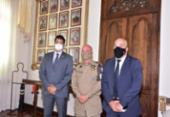 Presidente do SINDIPOL-BA se reúne com comandante-geral da PM-BA para falar sobre vacinação | Foto: Rede Social