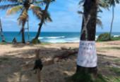 Moradores de Stella Maris protestam neste sábado contra supressão de restinga | Foto: Cidadão Repórter | via Whatsapp