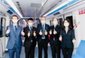 Chineses apresentam primeira composição do VLT do Subúrbio | Foto: Divulgação: BYD