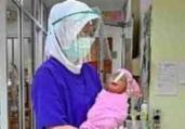 Taxa de morte materna pela Covid-19 no Brasil dobra | AFP