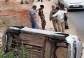 Suspeitos de assalto sofrem acidente após perseguição | Reprodução | Redes Sociais