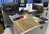 Suspeitos de roubos são presos com arsenal de guerra | Divulgação | SSP-BA