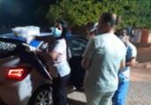 Mulher da à luz dentro de viatura da PM em Sauipe   Divulgação