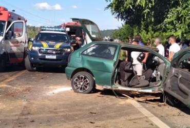 Acidente entre caminhão e carro deixa oito feridos na BR-330 | Reprodução | Jitaúna em Dia