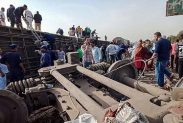 Acidente de trem deixa cerca de 100 feridos no norte do Egito | AFP