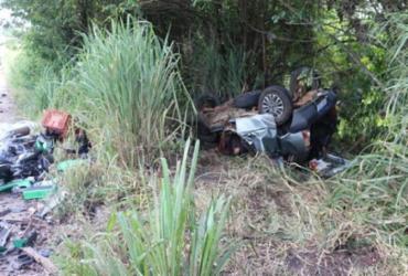 Cinco pessoas morrem durante grave acidente em Eunápolis