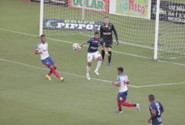 Bahia sofre, mas vence o Tremendão e volta ao G4 do Campeonato Baiano   Adilton Venegeroles   Ag. A Tarde