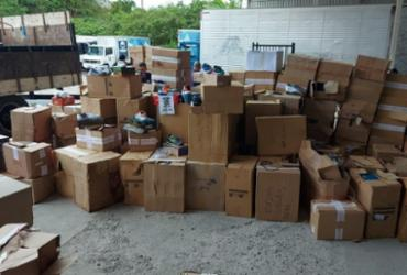 Caminhão com produtos falsificados é encontrado em galpão de Salvador | Divulgação | Sindpoc