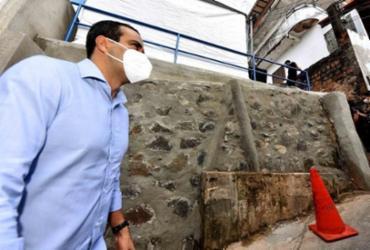 Contenção de encosta é entregue em Matatu de Brotas | Valter Pontes | Secom PMS