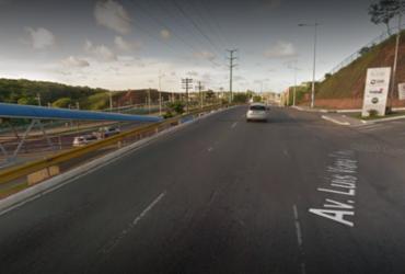Corpo de rodoviário é localizado em lagoa na Av. Paralela | Reprodução | Google Maps