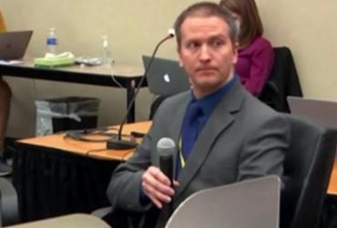 Ex-policial Derek Chauvin é detido após veredito em Minneapolis | STR | AFP