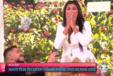 Após ser eliminada do BBB 21, Pocah é pedida em casamento ao vivo no 'Mais Você' | Reprodução | TV Globo