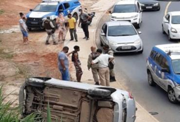 Suspeitos de assalto sofrem acidente durante perseguição; adolescente é apreendido | Reprodução | Redes Sociais