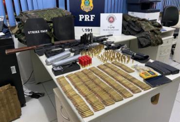 Suspeitos de roubos a bancos são presos com arsenal de guerra em Itabela