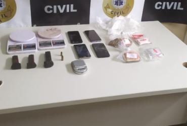 Suspeito de tráfico é preso com drogas e veículos em Itabuna | Divulgação | Polícia Civil