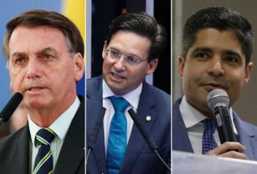 Bolsonaro, João Roma e Neto, um novo imbróglio no jogo de 2022 | Montagem A TARDE