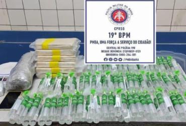 Jequié: Homem é preso com 140 garrafas de lança perfume e cocaína em condomínio