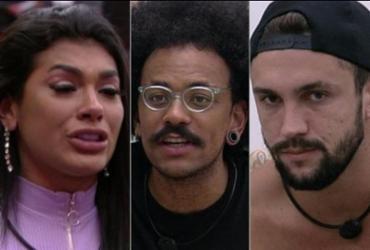 BBB 21: 13º paredão tem Arthur, João e Pocah | Reprodução | Rede Globo