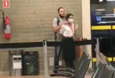 Policial tem surto e faz refém no aeroporto de Guarulhos | Reprodução | Redes Sociais