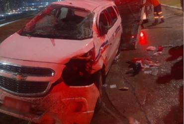 Taxista fica ferido após capotar carro durante perseguição na avenida Bonocô | Divulgação | AGT