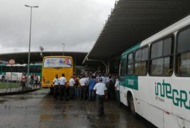 Rodoviários fazem manifestação na Estação Pirajá reivindicando vacinação da categoria   Divulgação