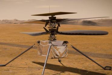 Voo de helicóptero da Nasa em Marte pode acontecer já nesta segunda-feira   Divulgação   Nasa