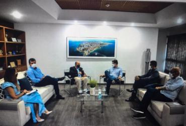 Presidentes da UPB e da FECBAHIA visitam grupo A TARDE | Felipe Urata/ Ag.A TARDE