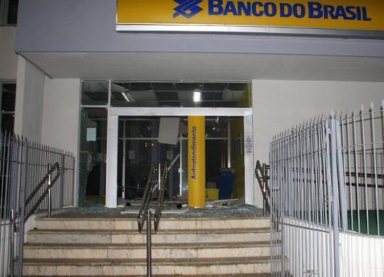 Bandidos explodem agência do Banco do Brasil em Ubaíra | Reprodução | Mídia Bahia