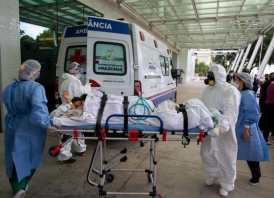 Covid-19: Brasil registra 3.321 mortes e 69,3 mil casos em 24 horas   Divulgação