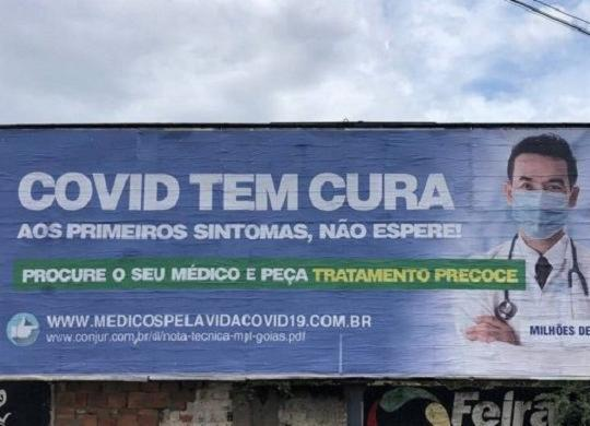 """Peça publicitária assinada por associação de médicos promete """"cura"""" da Covid-19 em Feira de Santana   Rovena Rosa  """