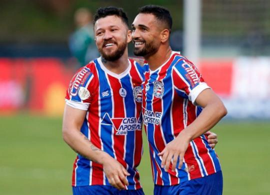 Gilberto e Rossi formam dupla afinada no ataque do Bahia | Felipe Oliveira | EC Bahia