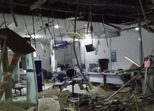 Criminosos explodem agência bancária em São Gonçalo dos Campos | Reprodução | São Gonçalo Agora