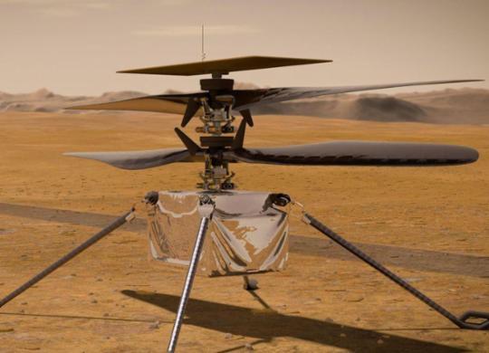 Voo de helicóptero da Nasa em Marte pode acontecer já nesta segunda-feira | Divulgação | Nasa
