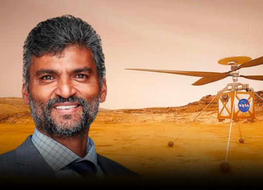 Engenheiro baiano de origem indiana desenvolve tecnologia para helicóptero que vai sobrevoar Marte | Divulgação