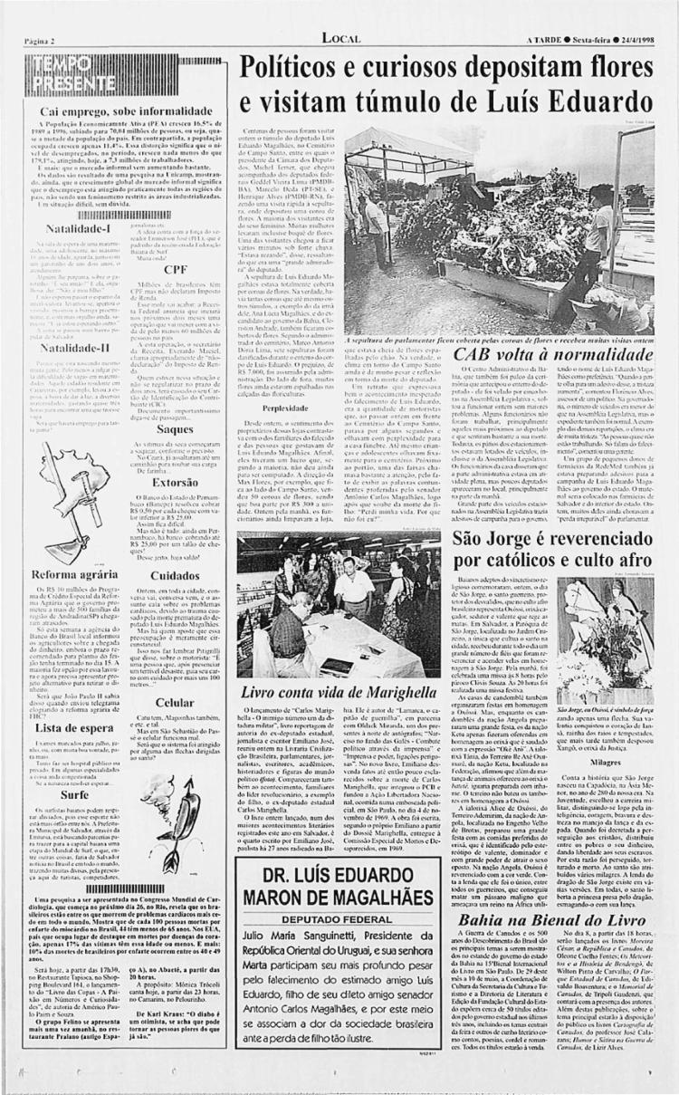 Festa continuou a ganhar visibilidade nas edições de A TARDE ao longo da década de 90 | Foto: Arquivo A TARDE | 24.4.1998