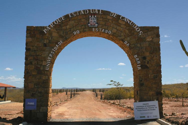 Entrada do Parque Estadual de Canudos, localizado no município distante 450 quilômetros de Salvador | Foto: Divulgação