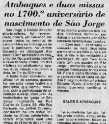 Reportagem sobre a festa de São Jorge publicada em 24 de abril de 1980