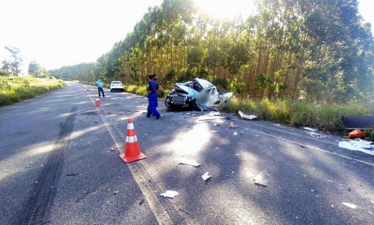 Outro funcionário da empresa, que estava dentro do veículo, também ficou ferido por causa do impacto | Foto: Reprodução | Radar 64 - Foto: Reprodução | Radar 64