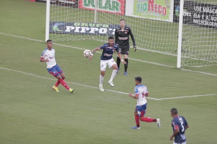 Com o triunfo, o Bahia agora soma 12 pontos no Campeonato | Foto: Adilton Venegeroles | Ag. A Tarde - Foto: Adilton Venegeroles | Ag. A Tarde