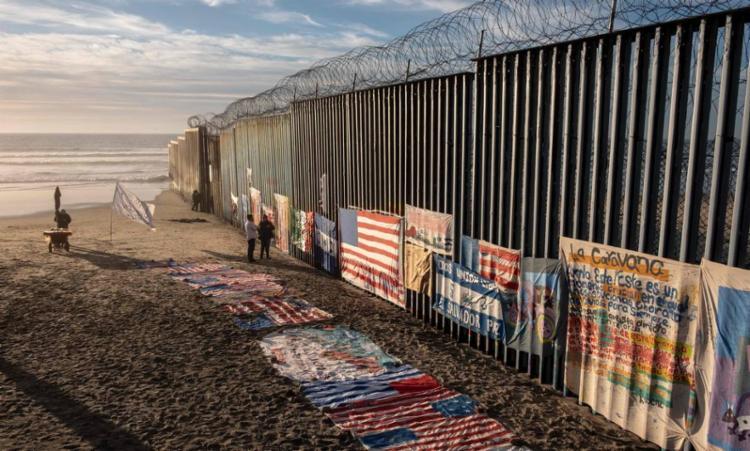 Maioria dos migrantes vem do México e Honduras, El Salvador e Guatemala   Foto: Guillermo Arias   AFP - Foto: Guillermo Arias   AFP