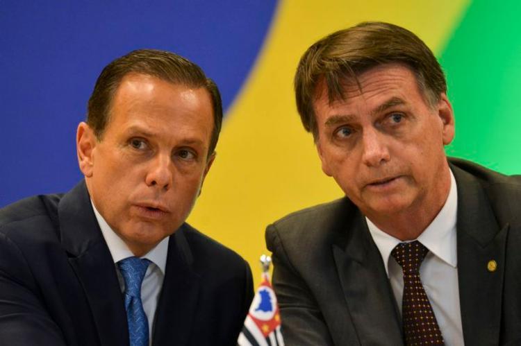 Embate entre o prefeito João Doria e o presidente Jair Bolsonaro baixou o nível de vez   Foto: Marcelo Camargo   Agência Brasil - Foto: Marcelo Camargo   Agência Brasil