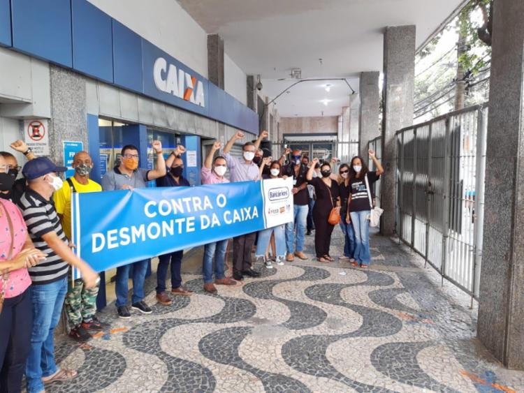 Ato iniciado por volta das 6h30 nas principais cidades baianas | Foto: Divulgação | Sindicato dos Bancários - Foto: Divulgação | Sindicato dos Bancários